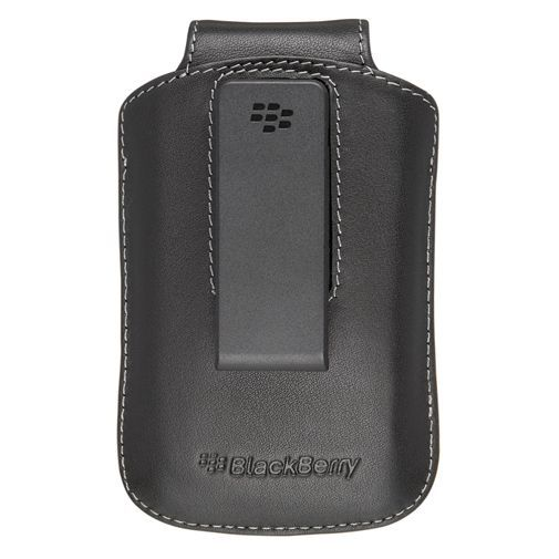 Productafbeelding van de BlackBerry Leather Swivel Holster Black 8500/8900/97xx