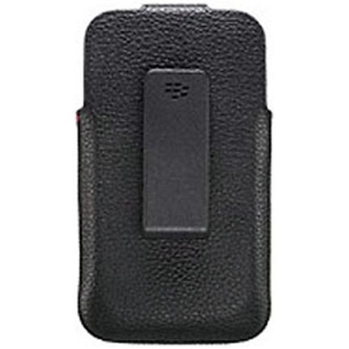 Productafbeelding van de BlackBerry Leather Swivel Holster Black BlackBerry Classic