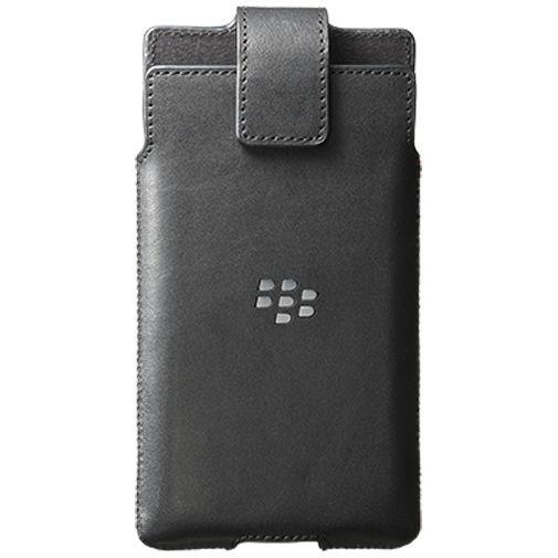 Productafbeelding van de BlackBerry Leather Swivel Holster Black BlackBerry Priv