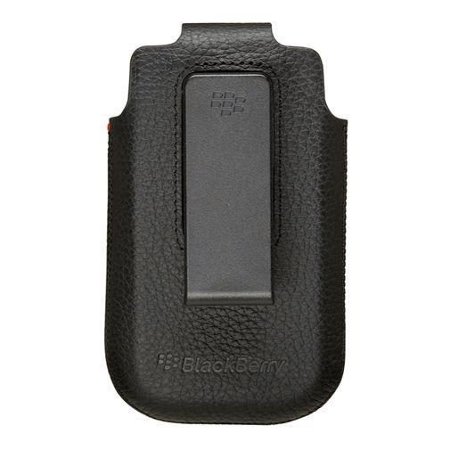 Productafbeelding van de BlackBerry Leather Swivel Holster Black Torch 9800/9810