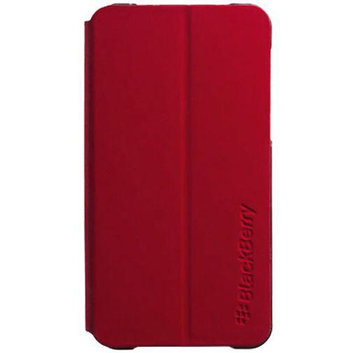 Productafbeelding van de BlackBerry Leather Flip Shell Red BlackBerry Z10