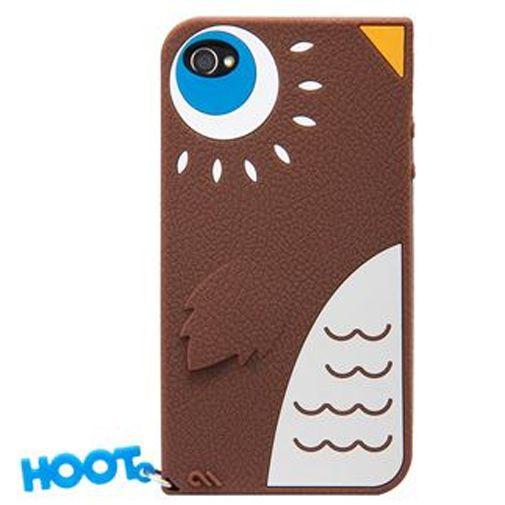 Productafbeelding van de Case Mate Apple iPhone 4 Creatures Hoot Brown