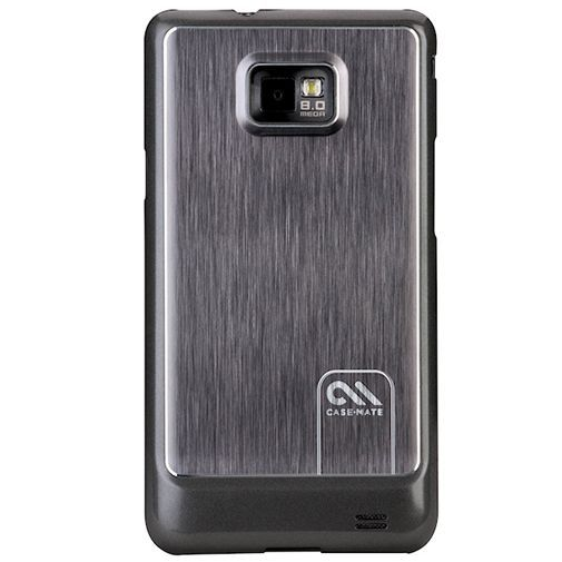 Productafbeelding van de Case Mate Barely There Brushed Aluminum Black Samsung Galaxy S II