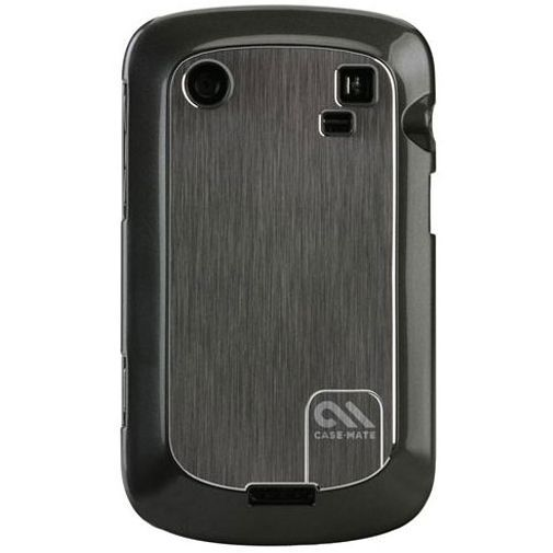 Productafbeelding van de Case Mate Barely There Brushed Aluminum Silver BlackBerry Bold 9900/9930