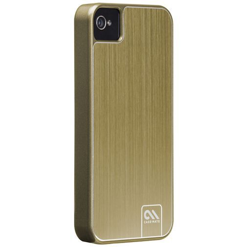 Productafbeelding van de Case-Mate Barely There Case Aluminium Gold Apple iPhone 4/4S