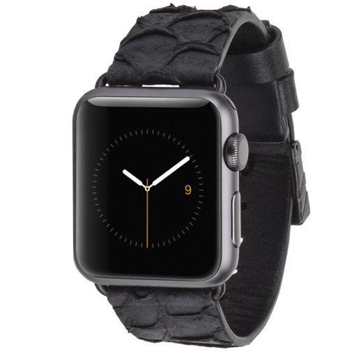 Productafbeelding van de Case-Mate Scaled Polsband Black Apple Watch 38mm