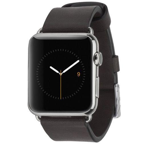 Productafbeelding van de Case-Mate Signature Leather Polsband Black Apple Watch 42mm