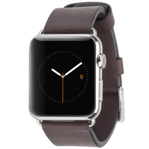 Productafbeelding van de Case-Mate Signature Leather Polsband Brown Apple Watch 42mm