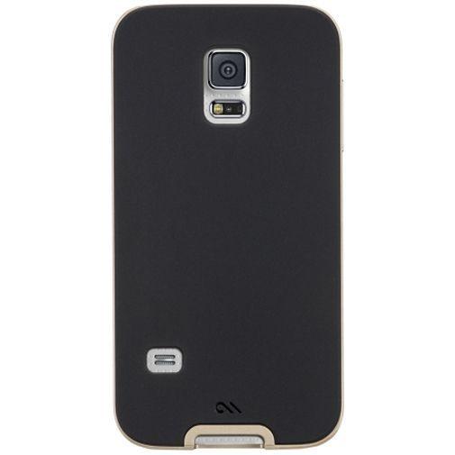 Productafbeelding van de Case-Mate Slim Tough Case Black/Gold Samsung Galaxy S5 Mini