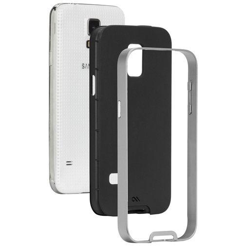 Productafbeelding van de Case-Mate Slim Tough Case Black/Silver Samsung Galaxy S5 Mini