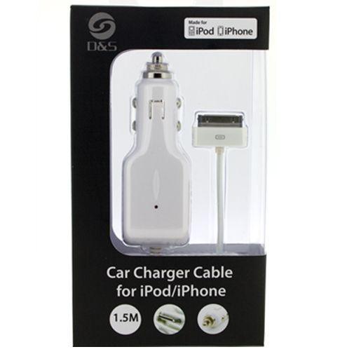 Productafbeelding van de D&S Autolader Apple iPhone/iPod