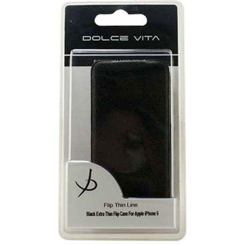 Productafbeelding van de Dolce Vita Flip Case Ultra-Slim Apple iPhone 5 Black