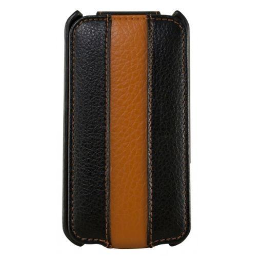 Productafbeelding van de Dolce Vita Flip Case Black Orange Apple iPhone 4/4s