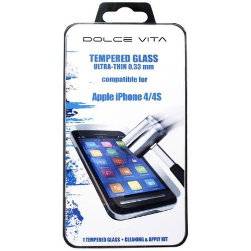 Productafbeelding van de Dolce Vita Tempered Glass Screenprotector Apple iPhone 4/4S