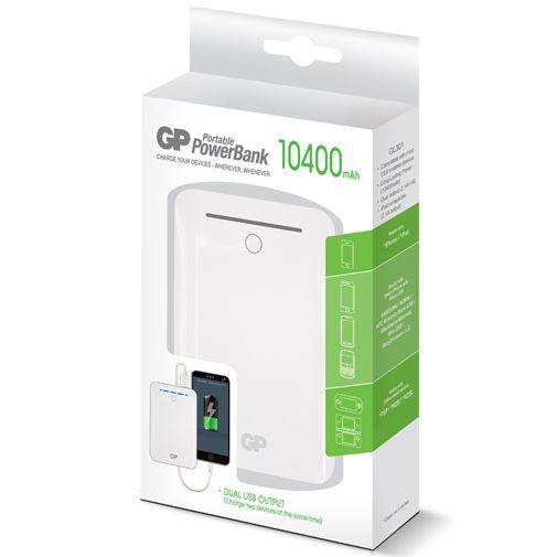 Productafbeelding van de GP Portable PowerBank 10400 mAh White