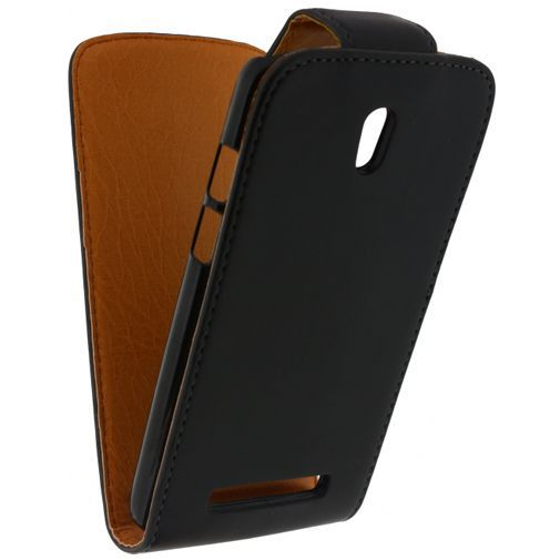 Productafbeelding van de Xccess Leather Flip Case Black HTC Desire 500