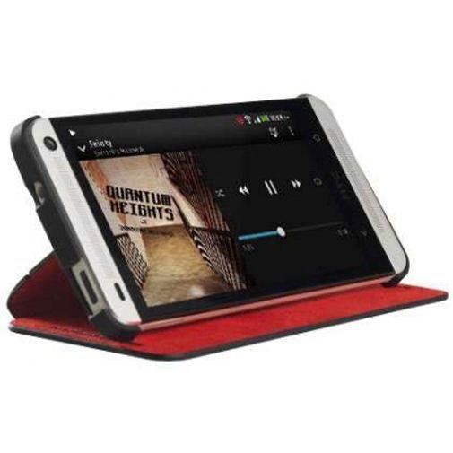 Productafbeelding van de HTC Double Dip Flip Case HTC One Black/Red