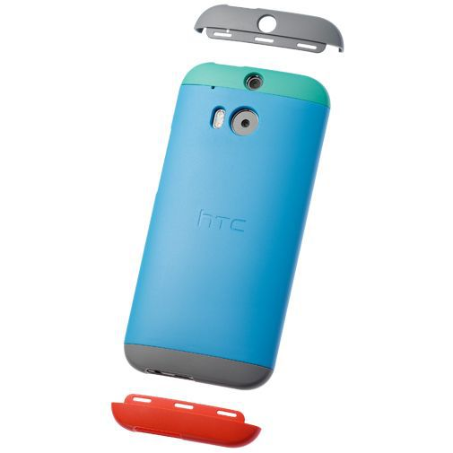 Productafbeelding van de HTC Double Dip Hard Shell Blue HTC One M8