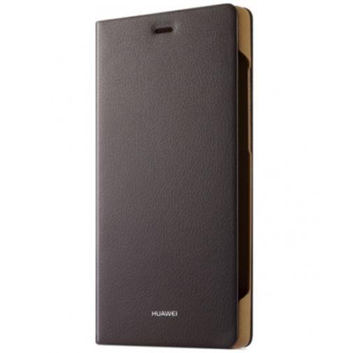 Productafbeelding van de Huawei Flip Cover Brown Huawei P8 Lite