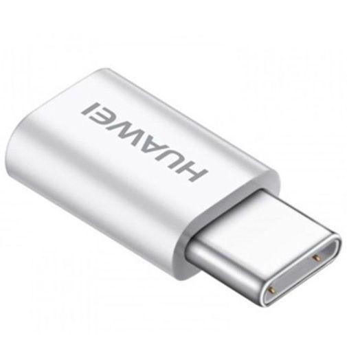 Produktimage des Huawei Adapter Micro-USB auf USB-C AP52 Weiß