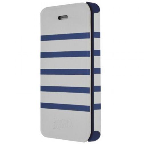 Productafbeelding van de Jean Paul Gaultier Flip Case Apple iPhone 5/5S White/Blue