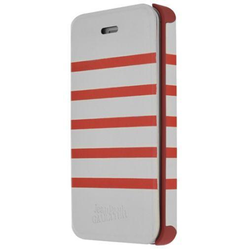 Productafbeelding van de Jean Paul Gaultier Flip Case Apple iPhone 5/5S White/Red
