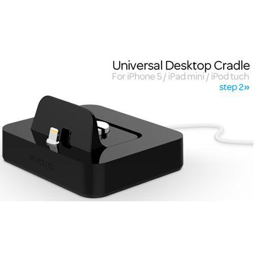 Productafbeelding van de KiDiGi Desktop Cradle Black Apple Lightning
