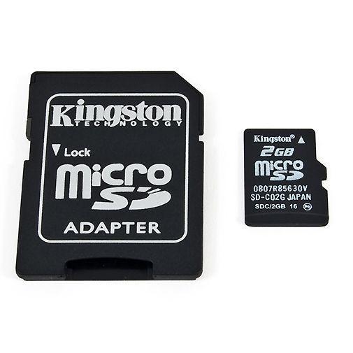 Productafbeelding van de Kingston microSD 2GB + adapter