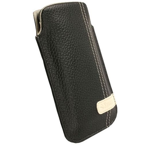 Productafbeelding van de Krusell Gaia Mobile Pouch Black M Leather