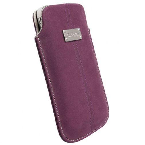 Productafbeelding van de Krusell Luna Pouch Nubuck Purple Large