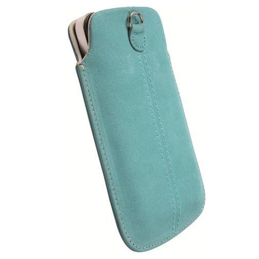 Productafbeelding van de Krusell Luna Pouch Nubuck Turquoise XXL