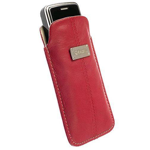 Productafbeelding van de Krusell Luna Pouch Red/Sand Medium