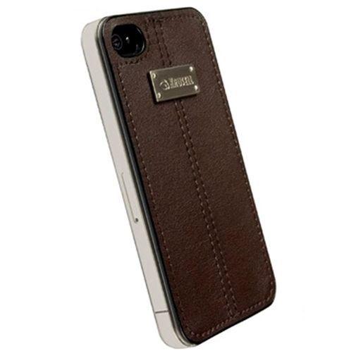 Productafbeelding van de Krusell Luna UnderCover Faux Nubuck Brown iPhone 4