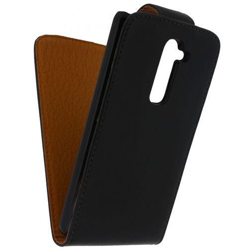 Productafbeelding van de Xccess Leather Flip Case Black LG G2