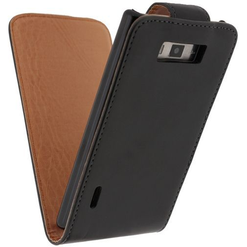 Productafbeelding van de Xccess Leather Flip Case Black LG Optimus L7 P700