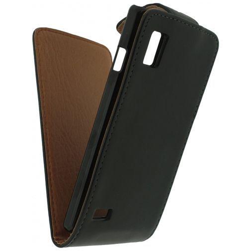 Productafbeelding van de Xccess Leather Flip Case Black LG Optimus L9 P760