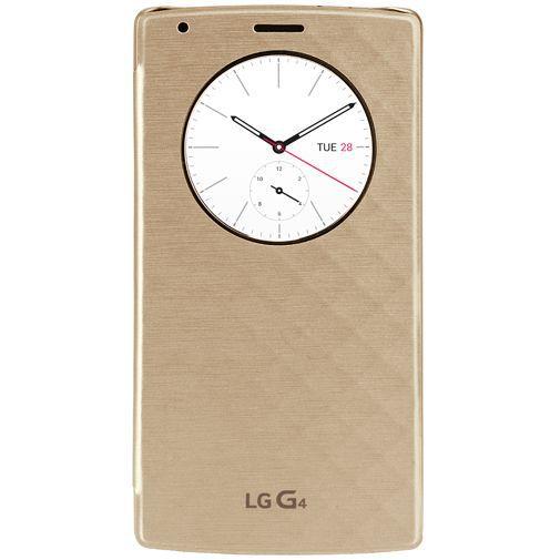Productafbeelding van de LG Quick Circle Case Gold LG G4
