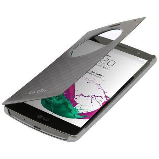 Productafbeelding van de LG Quick Circle Case Silver LG G4 S