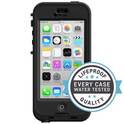 Productafbeelding van de Lifeproof Nuud Case Black Clear Apple iPhone 5C