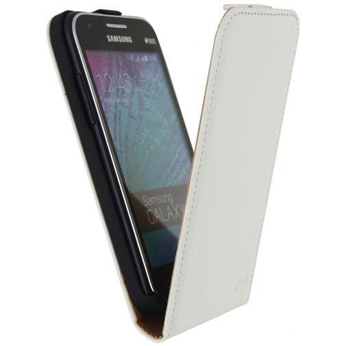 Productafbeelding van de Mobilize Classic Flip Case White Samsung Galaxy J1