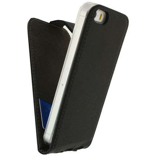 Productafbeelding van de Mobilize Classic Gelly Flip Case Black Apple iPhone 5/5S/SE Black