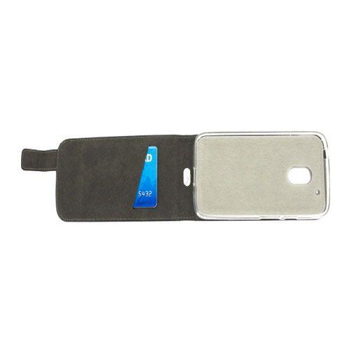Productafbeelding van de Mobilize Classic Gelly Flip Case Black Motorola Moto G4 Play