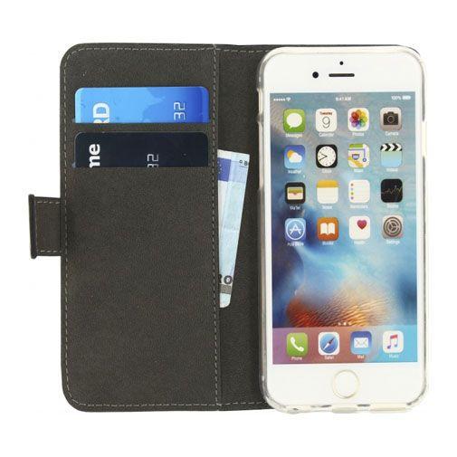 Productafbeelding van de Mobilize Classic Gelly Wallet Book Case Black Apple iPhone 6/6S