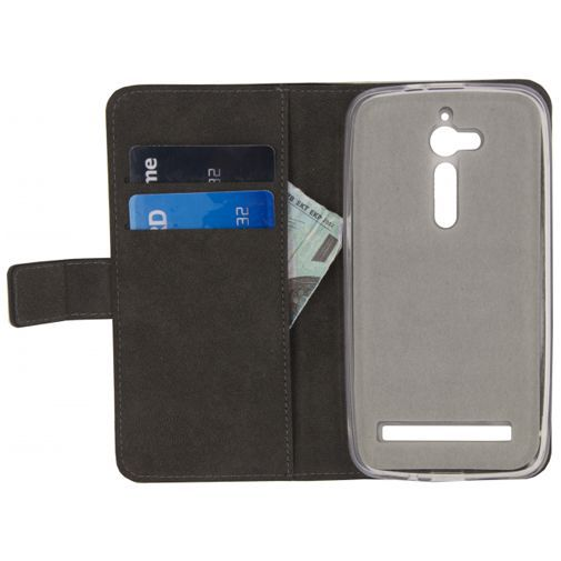 Productafbeelding van de Mobilize Classic Gelly Wallet Book Case Black Asus Zenfone Go (5.0