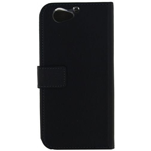 Productafbeelding van de Mobilize Classic Gelly Wallet Book Case Black HTC One A9s