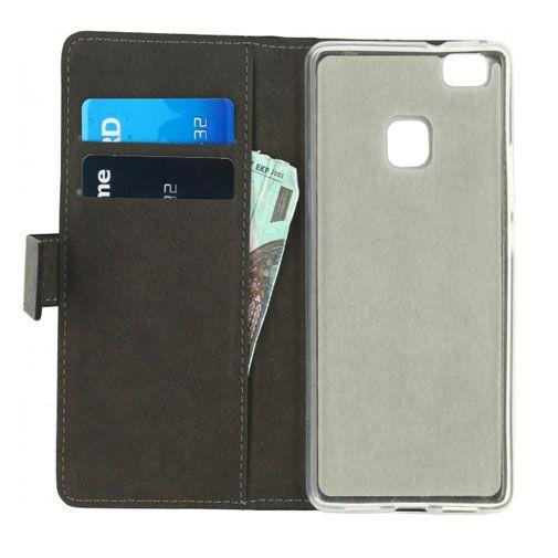 Productafbeelding van de Mobilize Classic Gelly Wallet Book Case Black Huawei P9 Lite