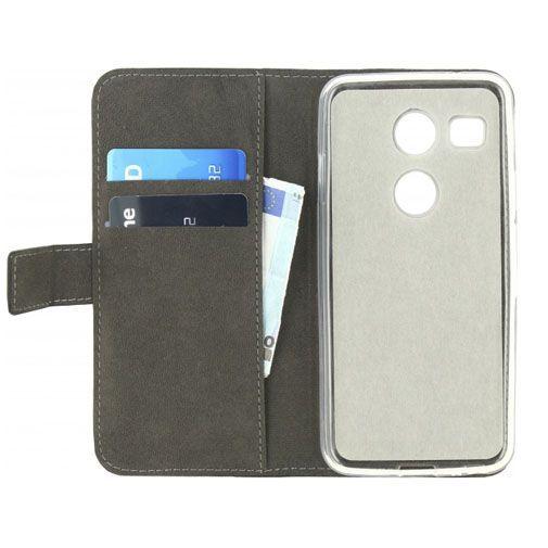 Productafbeelding van de Mobilize Classic Gelly Wallet Book Case Black LG Google Nexus 5X