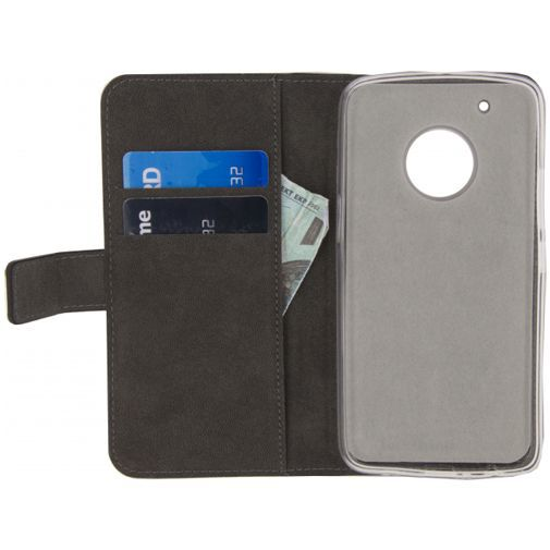 Productafbeelding van de Mobilize Classic Gelly Wallet Book Case Black Motorola Moto G5