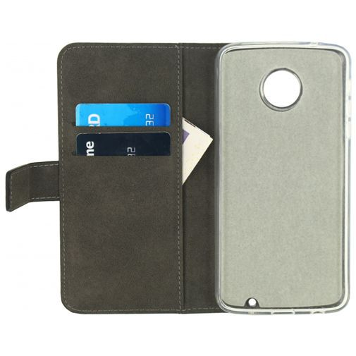 Productafbeelding van de Mobilize Classic Gelly Wallet Book Case Black Motorola Moto Z Play