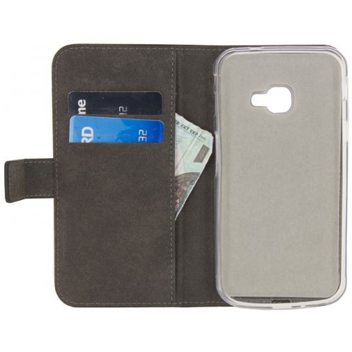 Produktimage des Mobilize Classic Gelly Wallet Book Case Schwarz Samsung Galaxy Xcover 4/4s